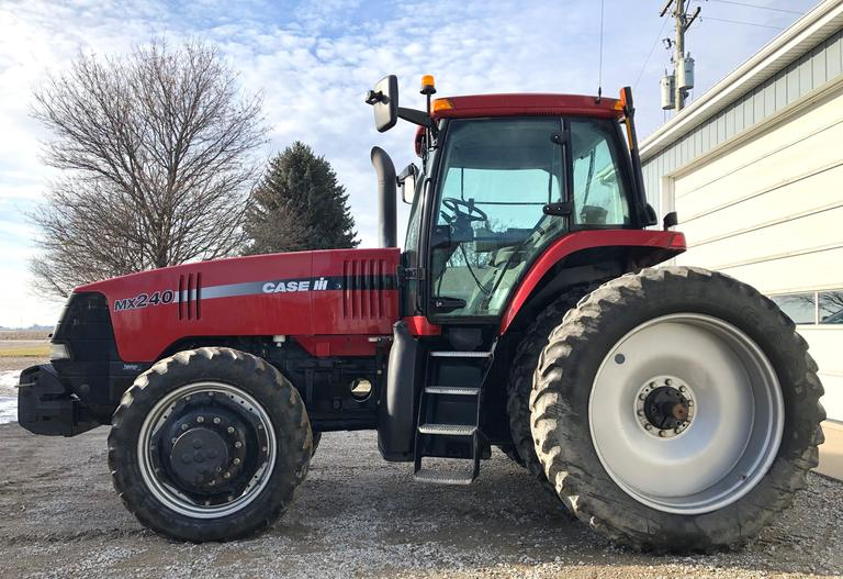 1999 MX240 Tractor, (5460 Hours), 18-Speed Powershift Transmission, 1000 PTO, 4-Hydraulic Outlets, Power Beyond, Goodyear 14.9R46 Rear Tires (50-60% Tread), Firestone 320/85R34 Front Tires (10-20% Tread), (12)-Front Weights, Everything Works as it Should, CN1073