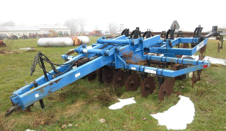 "DMI Ecolo-Tiger 527 5-Shank Disk Chisel Plow with Rear Disc Leveler, SN:  120317, 26"" Spacing, New Points, Comes with Spare Parts (Contact Owner), CN1003"