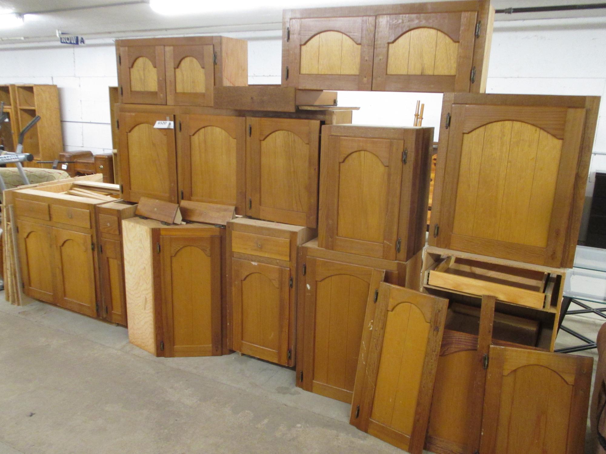 Albrecht Auctions | Cedar Kitchen Cabinets, Bottom of Lazy ...