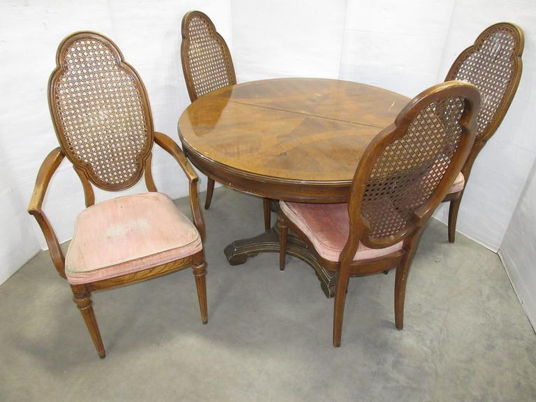 Old Round Table with (4) Chairs
