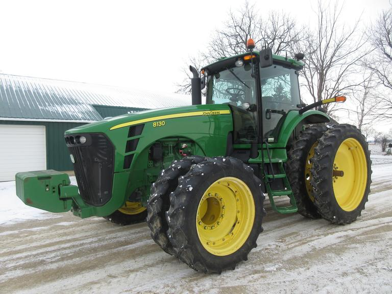 2007 John Deere 8130 MFWD Tractor, (5,473 Hours), Ser. No. RW8130P014396, Active Seat, (5)-Hydraulic Remotes, 320-50 Tires with Duals, Quick Hitch, 60 GPM Pump, Weights