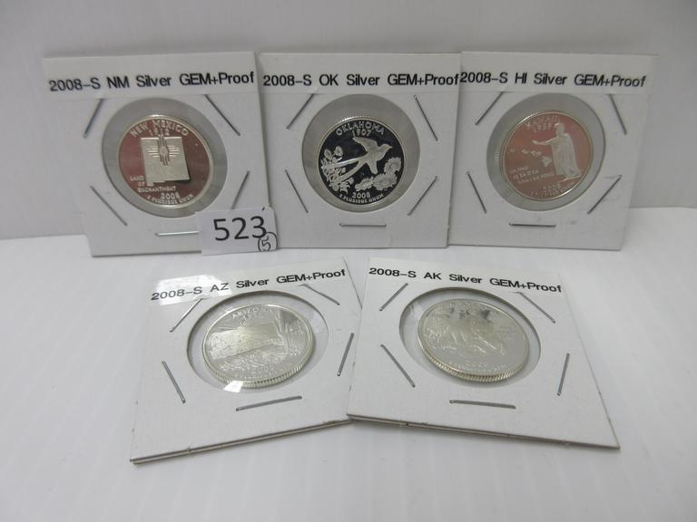 Proof Set 2008 S New Mexico Mint Silver Proof ~ Statehood Quarter from U.S