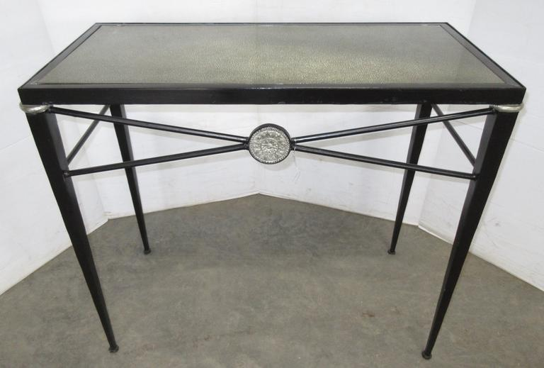 Black Glass Top Table