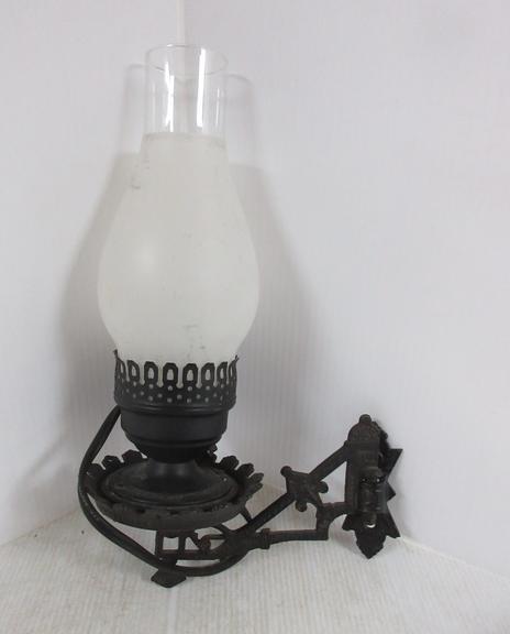 Albrecht Auctions Antique Victorian Cast Iron Electrified