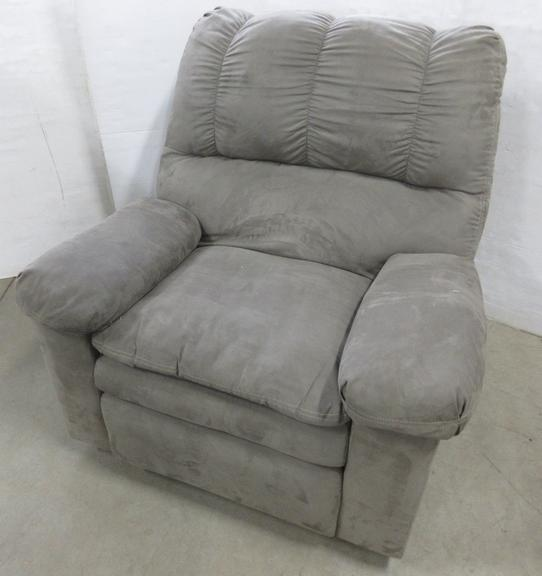 Microfiber Recliner, Matches Lot No. 9