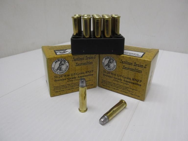 (40) Rounds of Jamison 32-20 Winchester 115-Grain RNFP