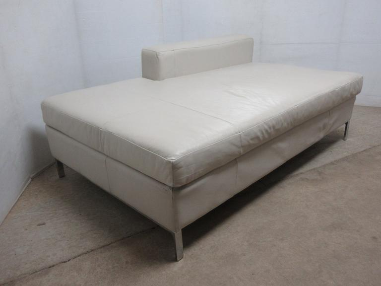 EQ3 Leather Lounger/Daybed in Tulsa Chalk, Seller States Original Purchase Price was Over $1500, Made in Canada