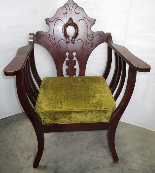 Wooden Padded Armchair