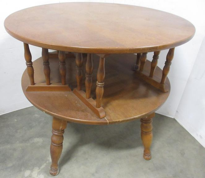 Old Wood Two-Tier Table