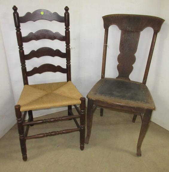 (2) Antique Wood Chairs
