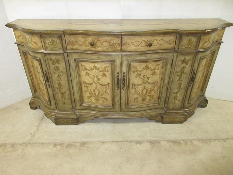 All Wooden Seven Seas by Hooker Furniture Large Buffet/Sideboard with Intricate Design Work, Very Well Made