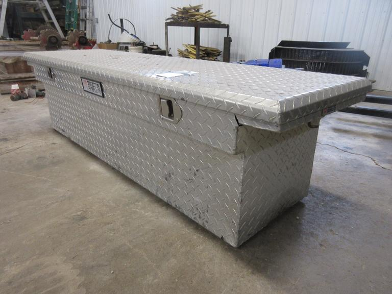 TSC Aluminum Diamond Plate Toolbox, Has Wear
