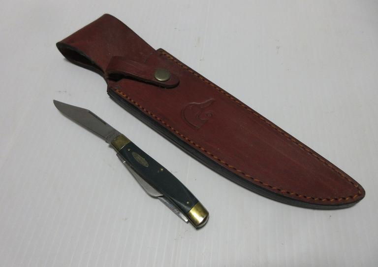Ducks Unlimited Pocket Knife and a Ducks Unlimited Knife Sheath