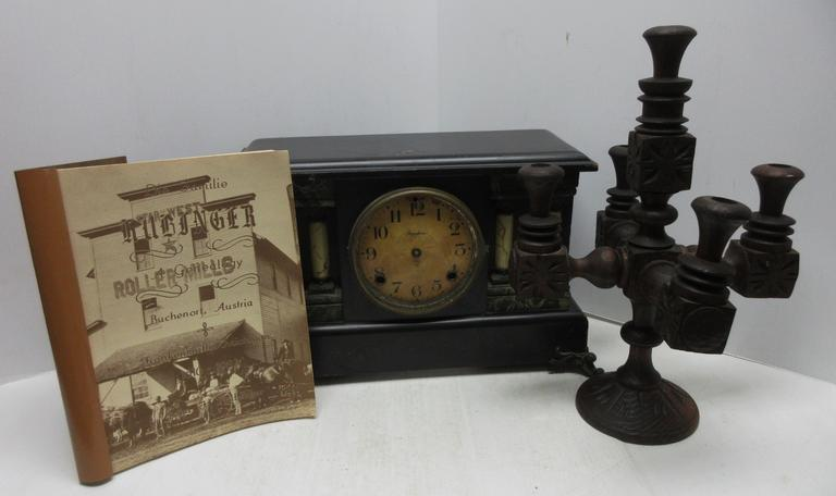 Albrecht Auctions Older Wooden Clock Case For Parts Includes Some