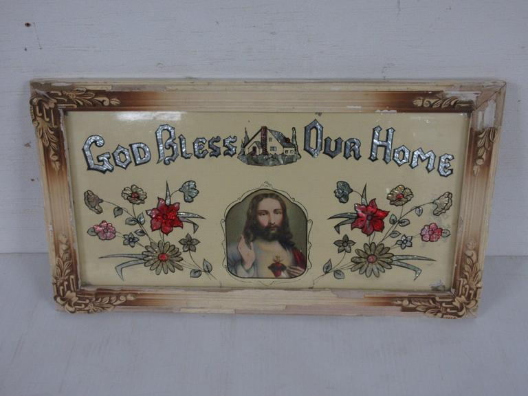 "Framed ""God Bless Our Home"""