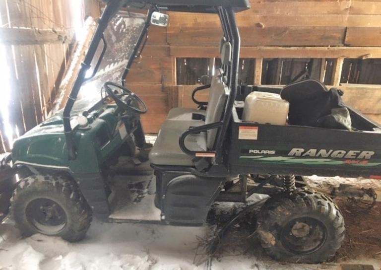 2003 Polaris Ranger 500, (400 Hours), Windshield and Roof, Clean and Clear Title, CN1175