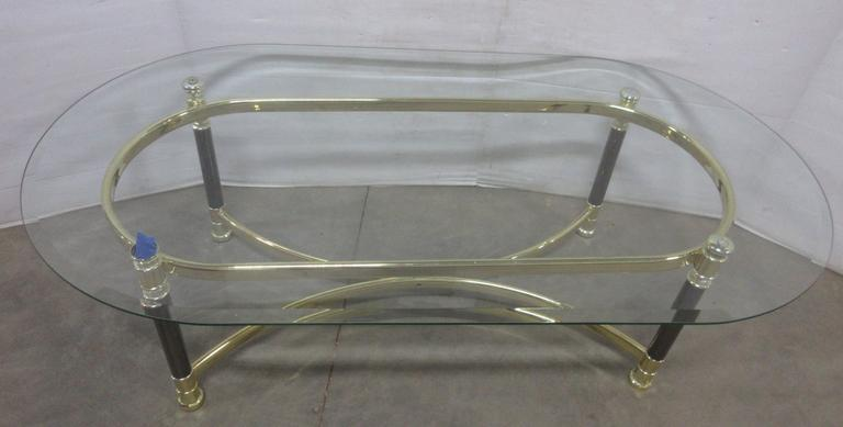 Coffee Table with Beveled Edge Heavy Plate Glass Top