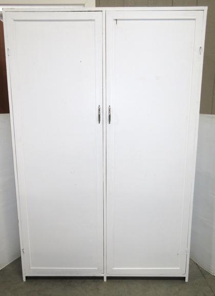 Wood Storage Cupboard or Closet with Two Doors