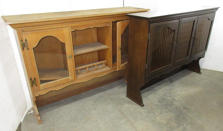 (2) Old Cabinet Hutch Tops