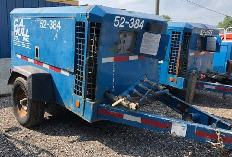 1999 Ingersoll-Rand Portable Air Compressor, (9654 Hours) Model P375WJD, John Deere Water Cooled Diesel Engine, Mounted on Single Axle Trailer, Currently NOT Running, CN1111