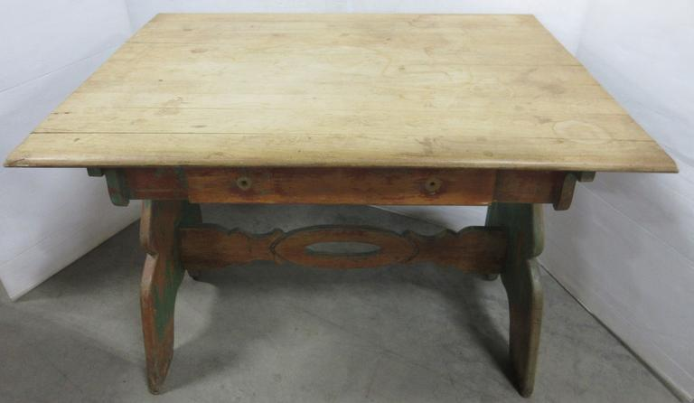 Antique Maple Farm Table