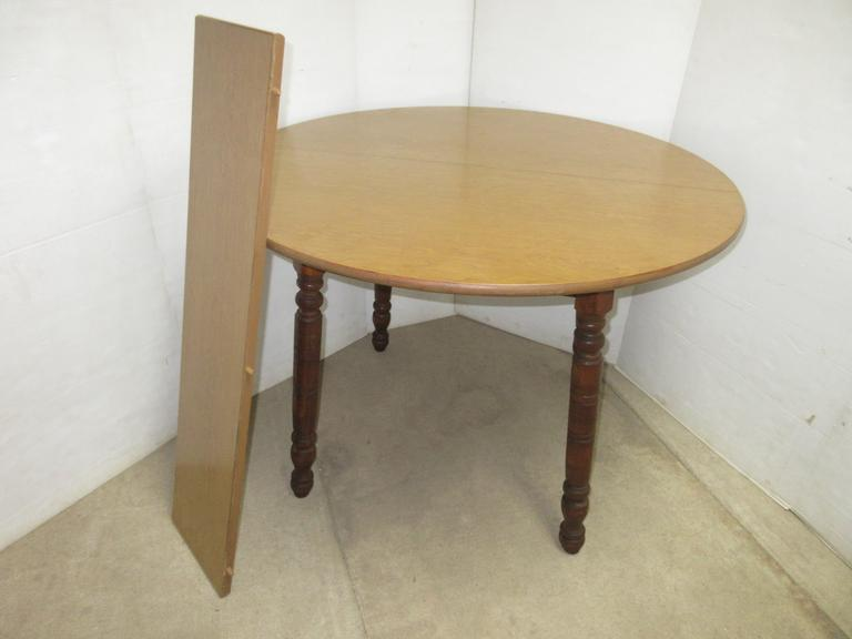 Wood Dinette Table with Leaf