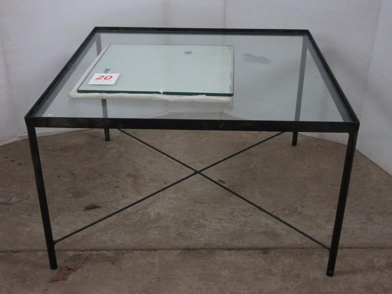 Coffee Table with Additional Glass Piece that Came Out of a Small Fridge/Cooler