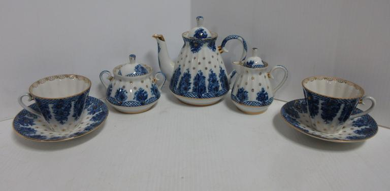 China Tea Service for Two, Made in Russia