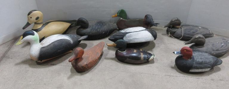 (10) Assorted Duck Decoys, One is a Ducks Unlimited