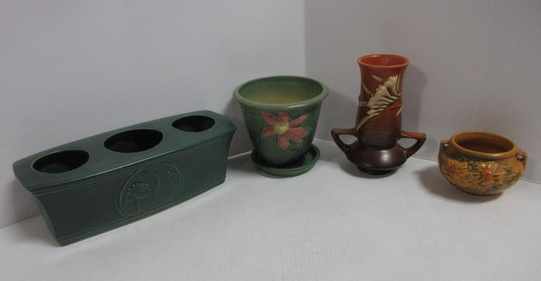 (4) Pieces of Roseville Pottery