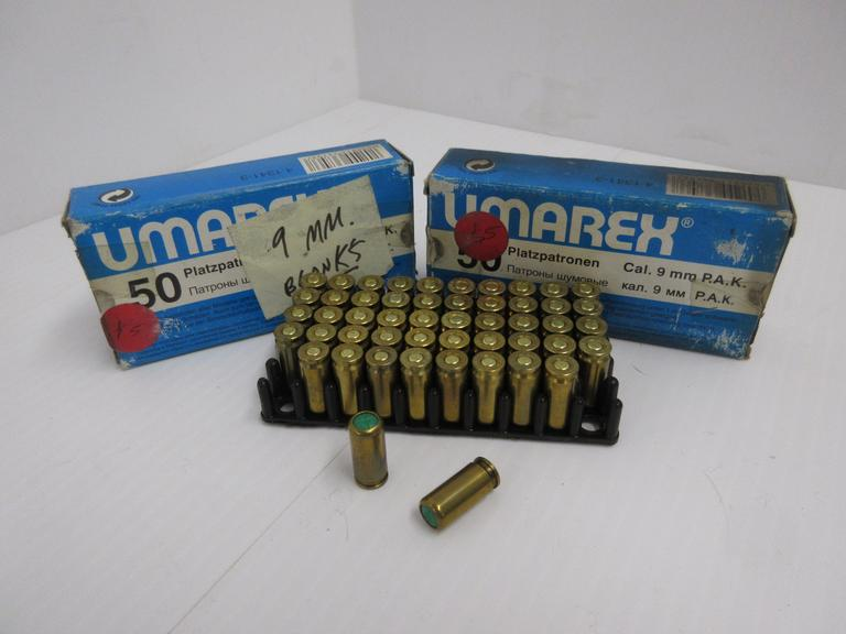 Albrecht Auctions | (100) Rounds of 9mm Blank Ammunition