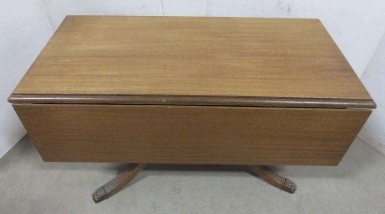 Older Wooden Drop Leaf Coffee Table