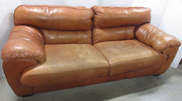 Leather Sofa, Matches Lot Nos. 32 and 34
