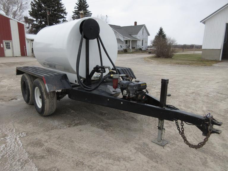 500-Gallon Shop Built Tandem Axle Fuel Trailer, Honda Pump, LED Lights