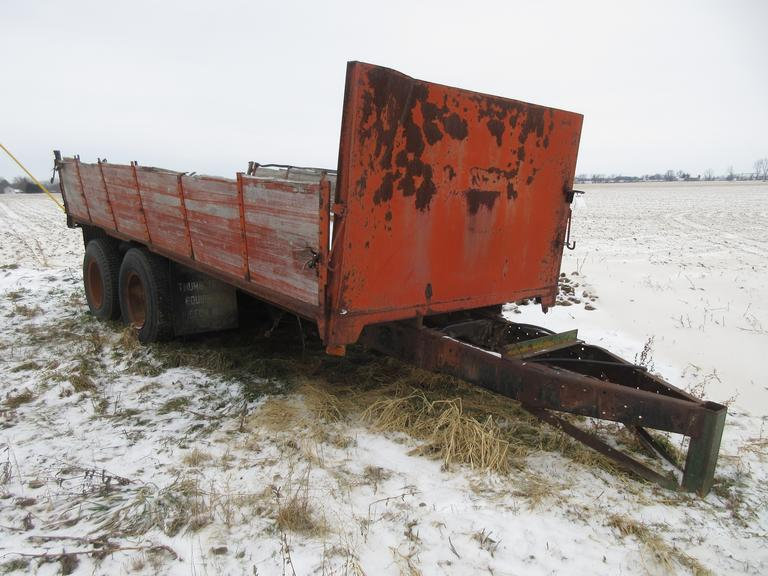Tandem Axle Dump Wagon, As Is