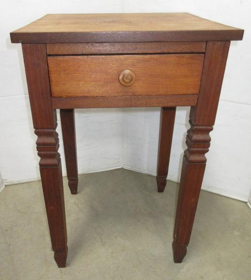 Wood End Table with Single Drawer