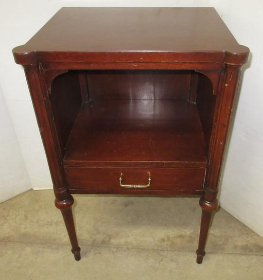 Older Telephone Stand with Drawer and Storage Area