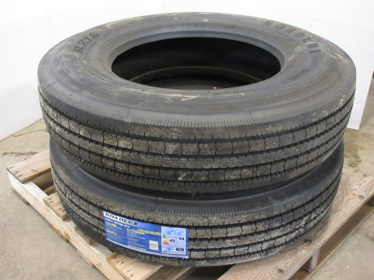 (2)-11R24.5 Trailer Tires, 16-Ply, New!