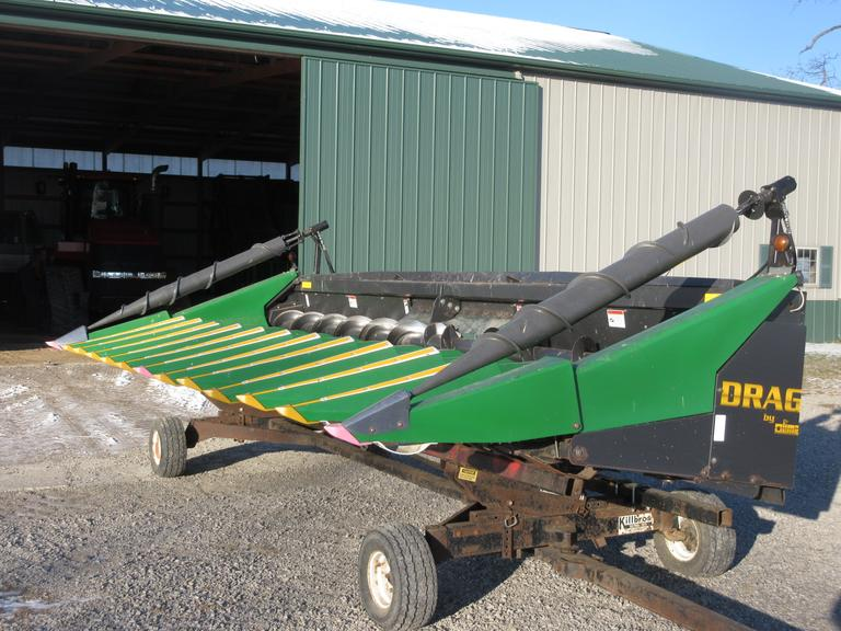 "2011 Drago 12 Row 20"" Chopping Corn Header, Auger Snouts, 4000 Acres On It.  Note:  Header cart is not included.  It is selling seperately."