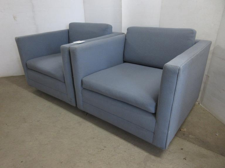 (2) Mid Century Modern Blue Chairs