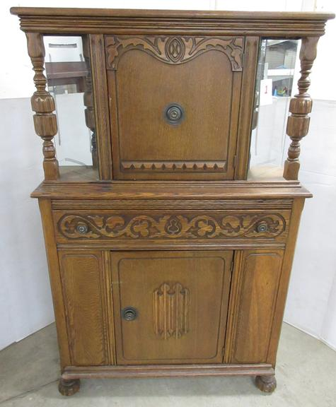 Jacobean Antique Buffet with Doors and Drawer