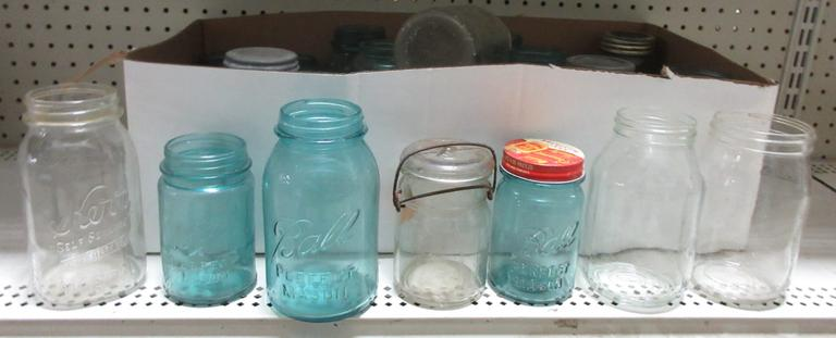 (23) Older Canning Jars, Most are Ball