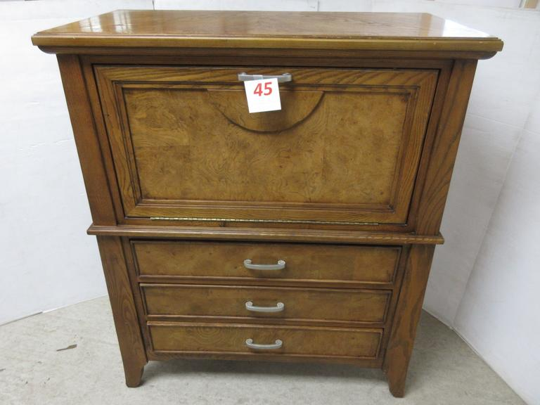 Three-Drawer Chest with Fold Out Lighted Upper Storage