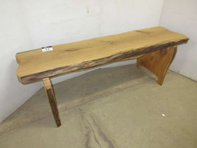 Oak Bench, Live Edge