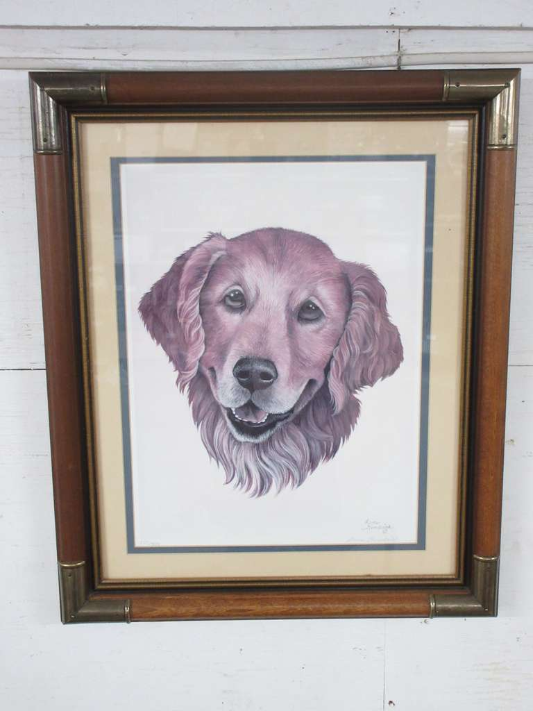Lane Kendrick Limited Edition Print, 110/700, Golden Retriever