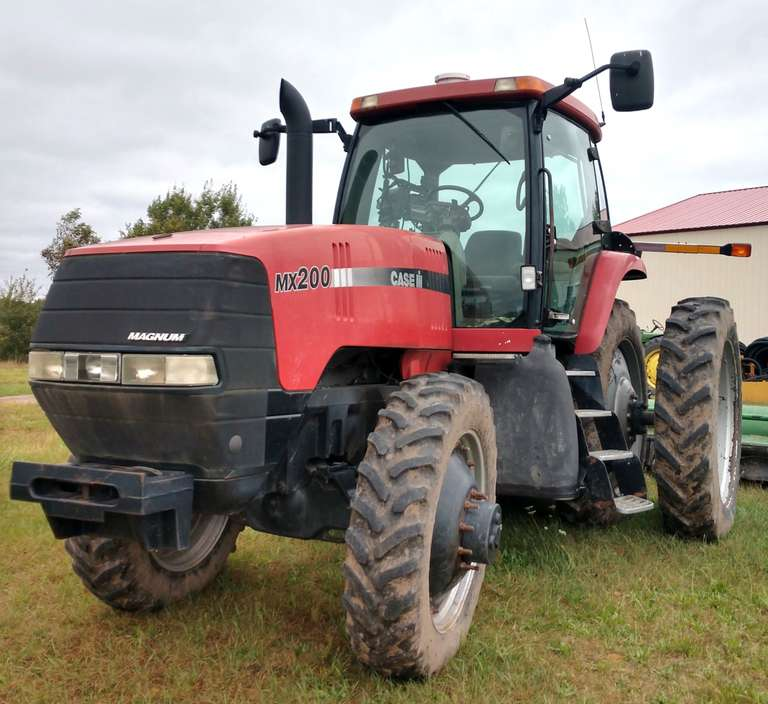 1999 Case International Harvester MX 200 Tractor, (7000 Hours), 200 HP, 4-Outlets, 380Rx42 Tires at 60%, New Transmission, Cab is Good - No Rips, Runs Great