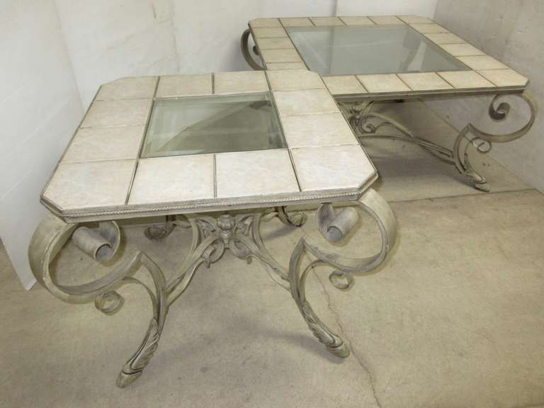Glass and Tile Tables, Very Heavy