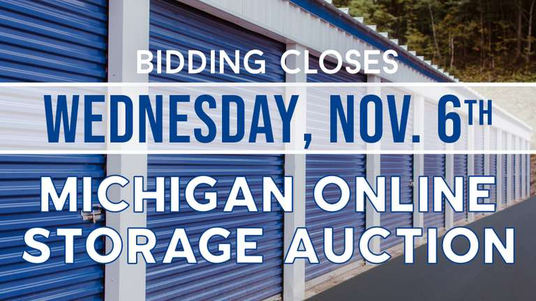 November 6th (Wednesday) - Michigan Online Storage Auction