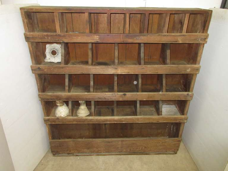 Older Wood Hardware Bin
