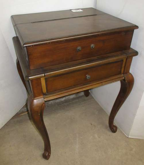 Small Secretary Desk with Pull Out, Has One Drawer and Cubbies